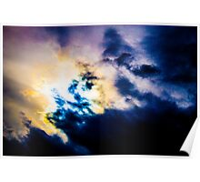 Abstract Colours of clouds Poster