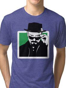 HEISENBERG, is watching you. Tri-blend T-Shirt
