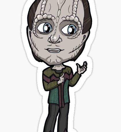 Star Trek DS9 - Elim Garak Cardassian Chibi Sticker Sticker
