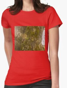 Mossy Tree with Sun Flare Womens Fitted T-Shirt