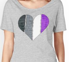 Asexual Pride Flag Heart Women's Relaxed Fit T-Shirt