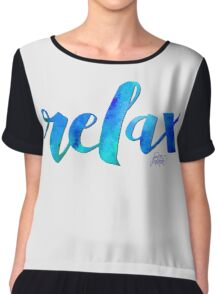 RELAX WATERCOLOR by Jan Marvin Chiffon Top