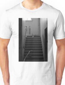 B&W: Hospital Stairwell   Unisex T-Shirt