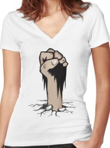 T-shirt Zombie Women's Fitted V-Neck T-Shirt
