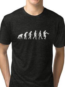 Evolution of Man (White Version) Tri-blend T-Shirt