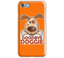 Goodbye Doggie (Orange) iPhone Case/Skin