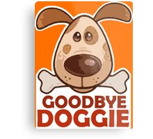 Goodbye Doggie (Orange) Metal Print