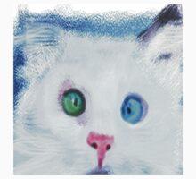 cat in chalk Baby Tee