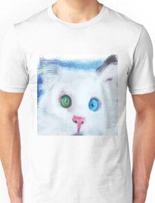 cat in chalk Unisex T-Shirt