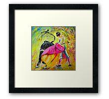 Bullfighting in Neon Light 01 Framed Print