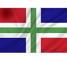 Groningen Province Flag Photographic Print
