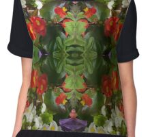 Flowers reflection by four Chiffon Top