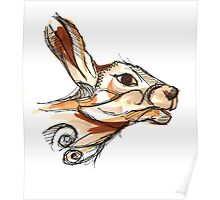 Scribbly hare Poster