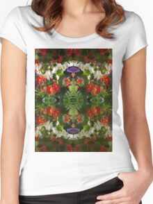 Flowers reflection by four Women's Fitted Scoop T-Shirt