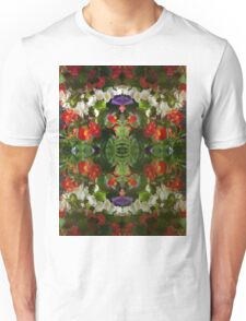 Flowers reflection by four Unisex T-Shirt