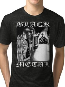 Norwegian Black Metal Church Arson Tri-blend T-Shirt
