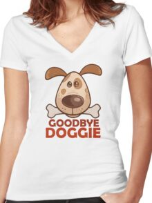 Goodbye Doggie Women's Fitted V-Neck T-Shirt