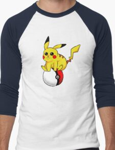 Pikachu on a Pokeball  T-Shirt