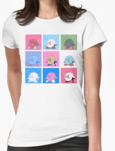 Kirby in warhol land Womens Fitted T-Shirt
