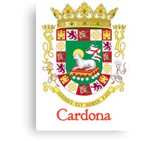 Cardona Shield of Puerto Rico Canvas Print