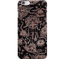 Chic dreamcatcher rose gold black illustration iPhone Case/Skin