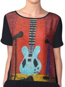Guitar on Stage Chiffon Top