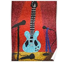 Guitar on Stage Poster
