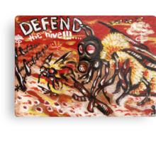 Defend the Hive Metal Print