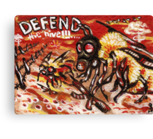 Defend the Hive Canvas Print