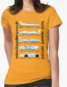 Land Speed Record Cars Womens Fitted T-Shirt