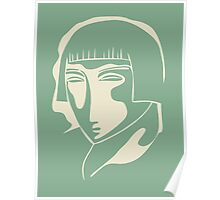 woman face 1928, green Poster