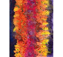 Abstract Purple Yellow Fire Photographic Print