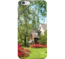 Spring - Suburban House With Azaleas iPhone Case/Skin