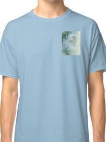 Serenity Prayer Blue Cone Flowers Classic T-Shirt