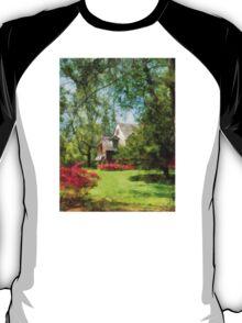Spring - Suburban House With Azaleas T-Shirt