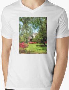 Spring - Suburban House With Azaleas Mens V-Neck T-Shirt