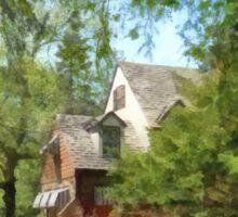 Spring - Suburban House With Azaleas Sticker