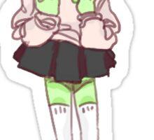 Cute Alien Girl Sticker