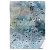 Abstract Undersea Colors 1 Poster