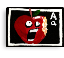 A for Apple Canvas Print