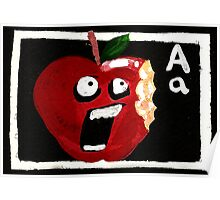 A for Apple Poster