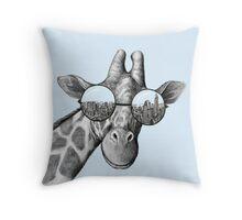Cool Giraffe  Throw Pillow