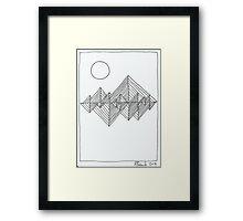Lines 8 Framed Print