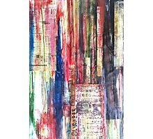 Abstract colour Photographic Print