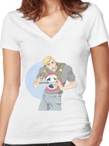 Cinnamon Cap Women's Fitted V-Neck T-Shirt