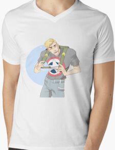 Cinnamon Cap Mens V-Neck T-Shirt