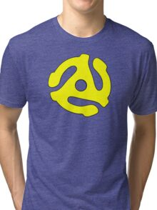 Record adapter yellow Tri-blend T-Shirt