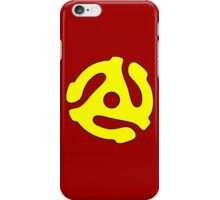 Record adapter yellow iPhone Case/Skin
