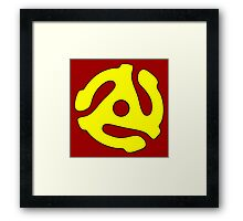 Record adapter yellow Framed Print