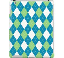 Green and Blue Argyle iPad Case/Skin